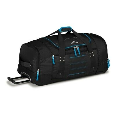 High Sierra 63609 Ultimate Access 76cm Wheeled Duffel + Backpack Straps Black