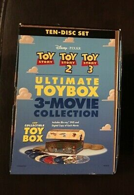 Toy Story Trilogy BLU-RAY 3 movies, 10 disc, dvd (NO DIGITAL COPIES)
