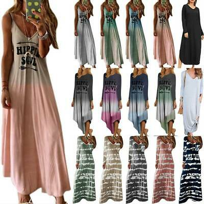 Womens Strappy Maxi Long Kaftan Dress Ladies Summer Beach Holiday Loose Sundress