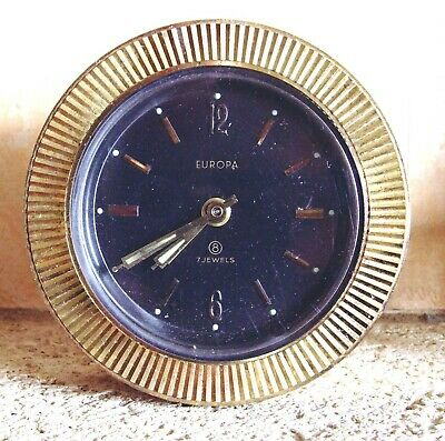EUROPA - 7 Jewels Mantle Clock  - Spares or Repair