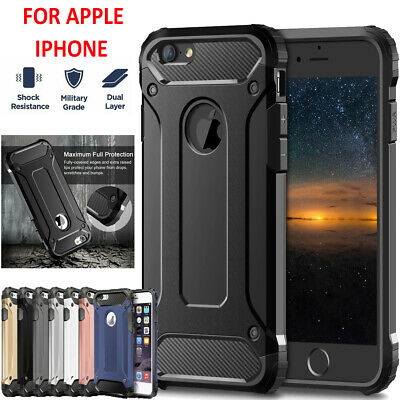 For Apple iPhone XS Max XR 7 8 Plus Tough Armor Heavy Duty Shockproof Case Cover