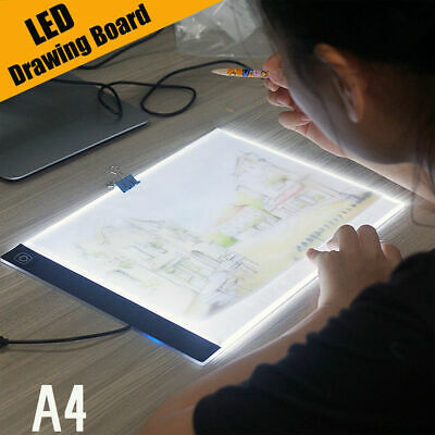 A4 LED Art Tattoo Stencil Board Light Tracing Drawing Pad Table Box Dimmable AU