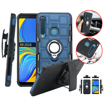 For Samsung Galaxy A7 A5 A3 2017 Heavy Duty Magnetic Metal Ring Armor Case Cover
