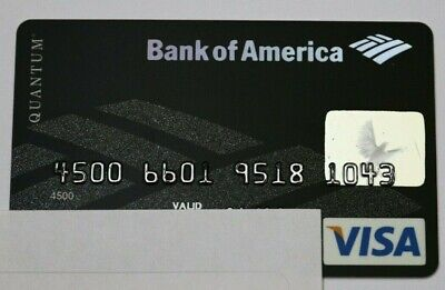 Expired 06/2008 Bank of America Quantum Visa Credit Card World Points