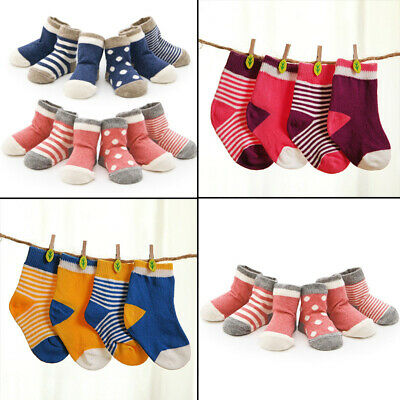 Toddler Kids Cotton Newborn Infant Baby Soft Sock Socks For 0-3 Years 4Pairs/Set