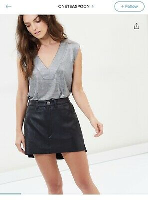 One Teaspoon Leather Vanguard Skirt M