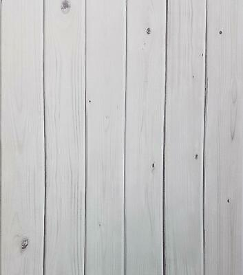 3D Effect Wood Plank Wallpaper White Grey Washable Paste Wall Graham & Brown