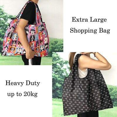 Extra Large Big capacity Foldable Shopping bags Reusable carry Bag Eco Grocery