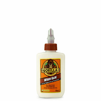 GORILLA GLUE 5044401 WOOD GLUE WATER RESISTANT PVA ADHESIVE 118ML BOTTLE x 6