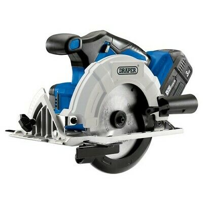 Draper 00594 D20 20V Brushless Circular Saw with 3Ah Battery and Fast Charger