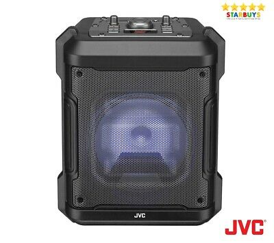 JVC MX-D319PB Wireless Portable Bluetooth Party Speaker System Disco Lights