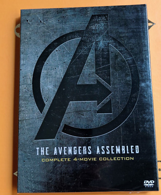 Marvel Lot Avengers 1-4 (1 2 3 4) DVD Complete 4 Movie Collection Endgame