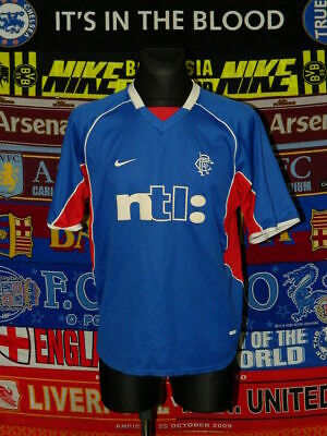 4/5 Rangers adults L 2001 home football shirt jersey trikot soccer