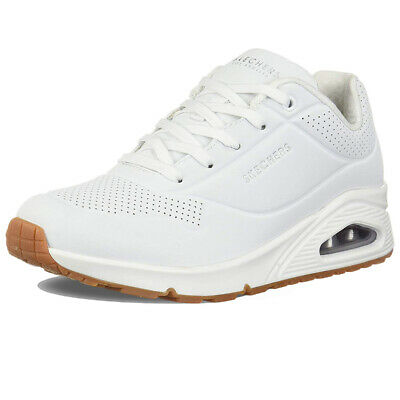 SKECHERS UNO STAND On Air Bianco Scarpe Shoes Donna Sneakers