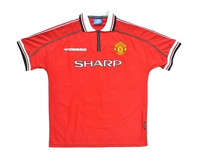 1998-00 Umbro Manchester United Home Shirt (XL) Sheringham 10