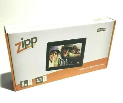 "Zipp 7"" Widescreen Digital Lcd Photo Frame Brand New"