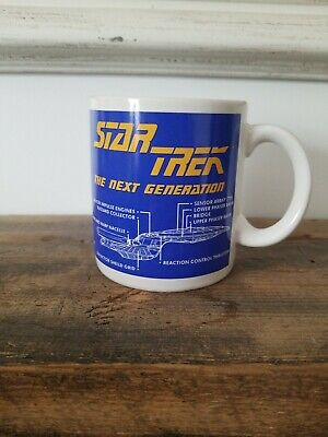 1 PFALTZGRAFF Star Trek Next Generation Coffee Mug 1994 USS Enterprise Vintage