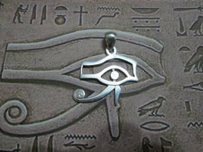 Eye of Horus Egyptian great pendant made Sterling Silver 925- artisan product