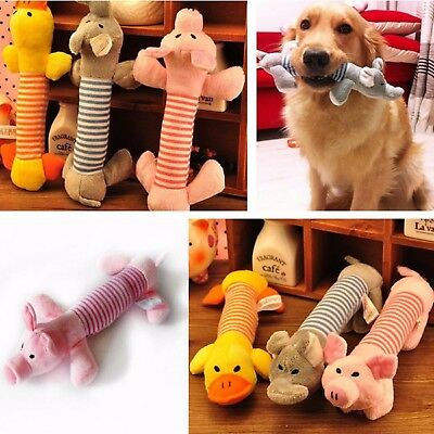 Funny Cute Soft Pet Puppy Chew Play Squeaker Squeaky Plush Sound For Dog Toys