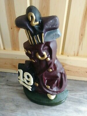 Vintage Cast Iron Golf Bag Doorstop golfing 19th hole