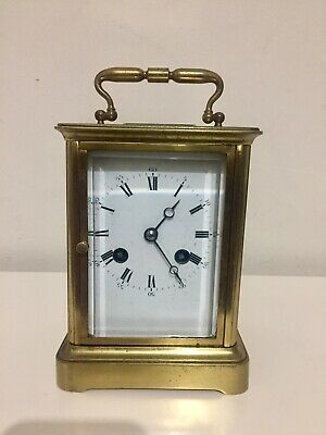 Antique Large Bell Striking Carriage Clock By Leroy. C1870