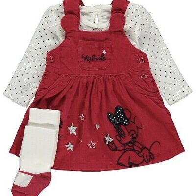 Baby Girl disney minnie Dress Outfit 3 Piece Set 12-18 Months christmas