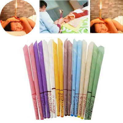 10Pcs Earwax Candle Wax Hollow Blend Cones Beeswax Ear Cleaning Hearing Massag^P