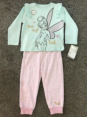 Baby Girls DISNEY TINKERBELL Pyjamas 3-6 Months OFFICIAL LICENSED PRIMARK