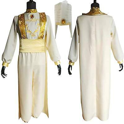 Animation Aladdin Indian Prince Cosplay Costume Men Clothes Uniform Fancy Dress