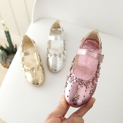 Children Infant Kids Baby Girls Flower Hollow Princess Single Casual Shoes