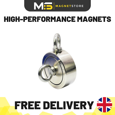 48mm Double/Single Sided Multiway Neodymium Fishing Magnet (100kg Pull)