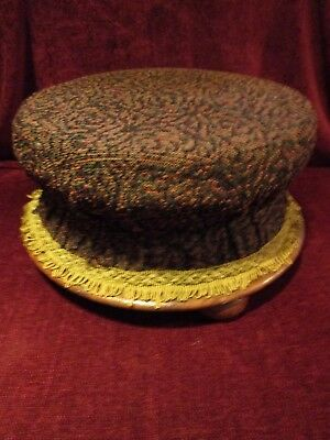 Antique Victorian Circular Footstool