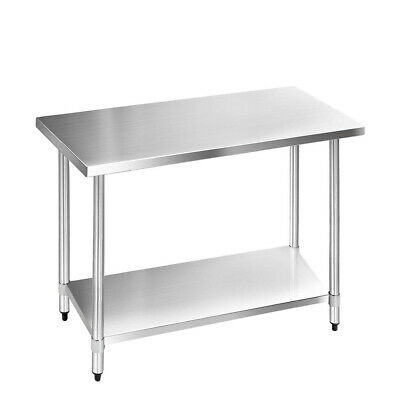 Cefito Stainless Steel Kitchen Benches Work Bench Food Prep Table 1219x610mm 304
