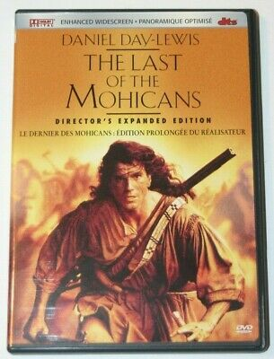 The Last Of The Mohicans DVD.  Director's Expanded Edition.  Danniel Day-Lewis.