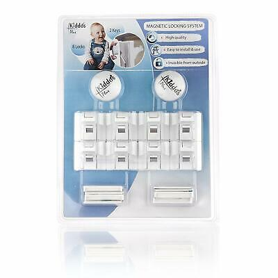 Magnetic Child Safety Lock System Set of 8 Locks and 2 Keys Kiddo's Plus New