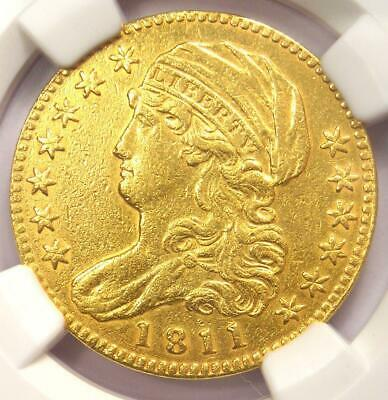 1811 Capped Bust Gold Half Eagle $5 - Certified NGC AU Details - Rare Gold Coin!
