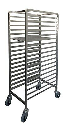 Pastry Trolley Stainless Steel or Zinc Tray