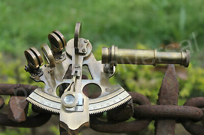 "Solid Brass Table Top 3"" Sextant Nautical Marine Vintage Navigation Perfect Gift"