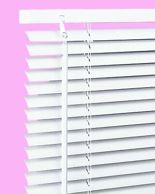 White PVC Venetian Blind Window Blinds Easy Fit Trimmable VENETIAN  Home Office