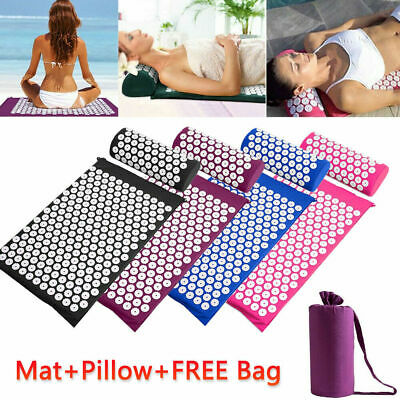 Yoga Massage Acupressure Mat Shakti Sit Lying Mats Pain Stress Soreness Relax AU