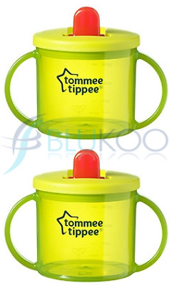 Tommee Tippee Essentials Basic First Cup Green (Pack of 2)