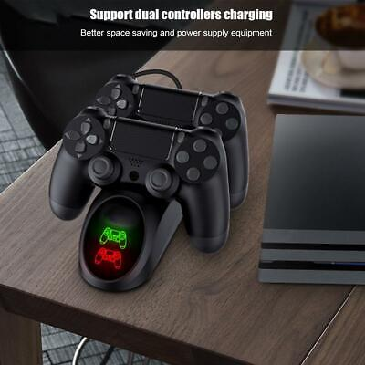 Game Controller Charger Dual Controller Charging Station Stand for PS4/PRO/SLIM