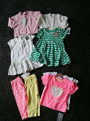 Brand new with tags girls bundle 3-6 months cardigans dresses leggings t-shirts