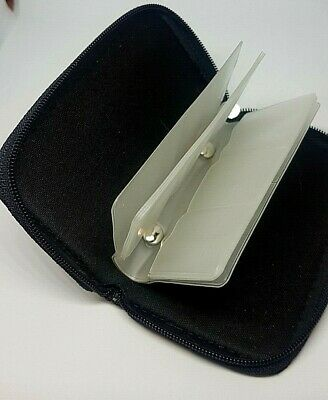 SD card case black and zipped