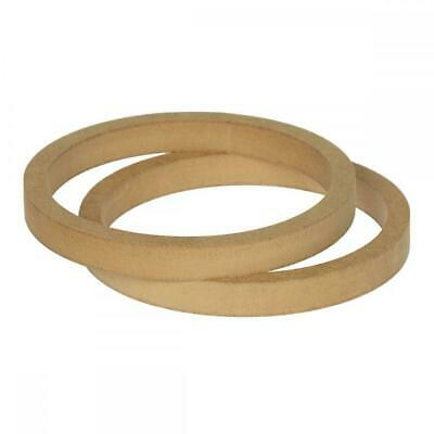 "6.5"" 165mm Pair of Slim MDF Speaker Spacer Mounting Rings 8mm Thick ID 144mm"
