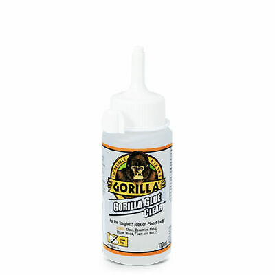 GORILLA GLUE 1244401 CLEAR GLUE FOR VIRTUALLY INVISIBLE FIXES 110ML BOTTLE x 8