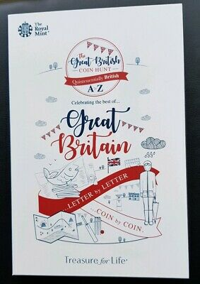 2019 Great British Coin Hunt 10p Coin Album Folder Brand New A to Z Royal Mint