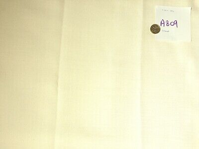 A809 curtain fabric 55 x 42 inches polyester. cream
