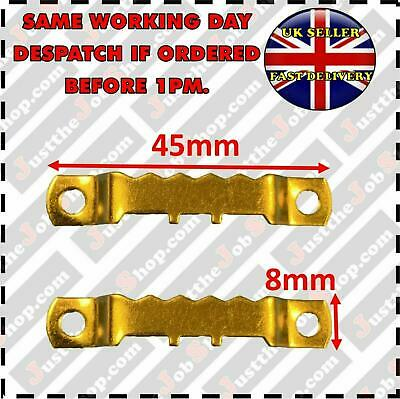 45mm PICTURE SAWTOOTH HANGER BRASSED SMALL CANVAS FRAME HOOKS MULTI QUANTITIES