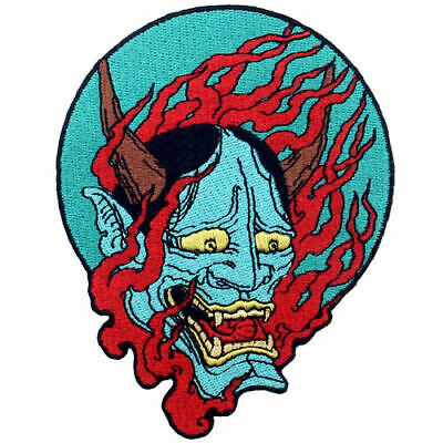 Embroidered Patches Iron Sew On Patches Badges appliques Samurai Hannya oni 695R